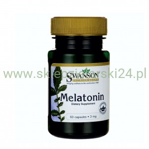 Melatonin 3mg - melatonina 60 kapsułek Swanson