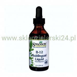 B-12 Sublingual Liquid - witamina B12 w płynie 59ml Swanson